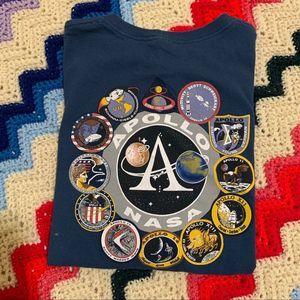 NASA Apollo 11 Vintage Cropped Tee Shirt 90s